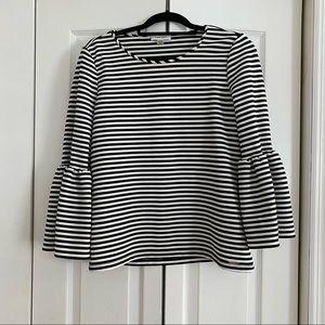 Calvin Klein Bell Sleeve Striped Top